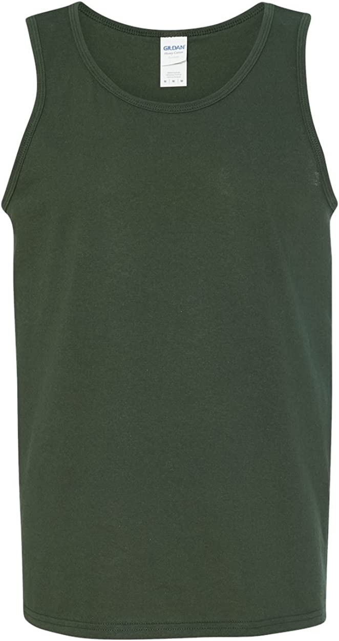 Heavy Cotton Tank Top (G520) Forest Green, L (Pack of 12)
