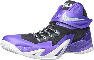 Men's Nike Zoom Soldier VIII Basketball Shoe (11, Purple/Metallic Silver)