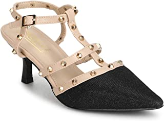 TRUFFLE COLLECTION Women's RF-SM368-M104 Black PU Fashion Sandals