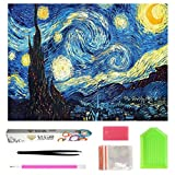 OWAY Full Drill 5D Diamond Painting 20X16 inch, Paint by Number Kits Starry Night Diamond Painting Kits for Home Wall Decor