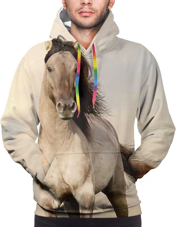 Hoodie For Teens Boys Girls Wild Horse Running Hoodies Pullover Sweatshirt Pockets