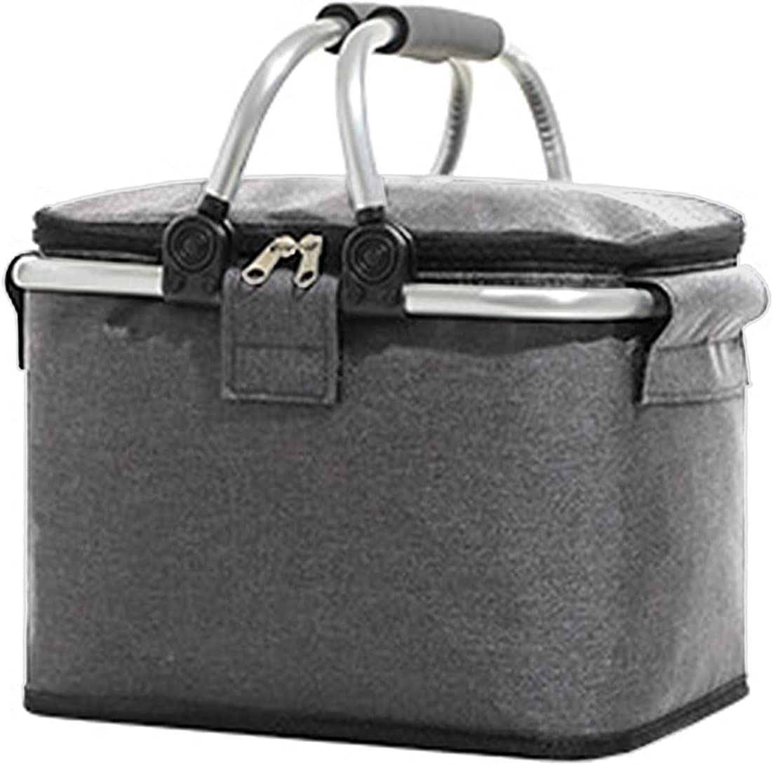 HXRZZG Insulated Japan Maker New shopping Cooler Bag 20L Basket Collapsible Picnic