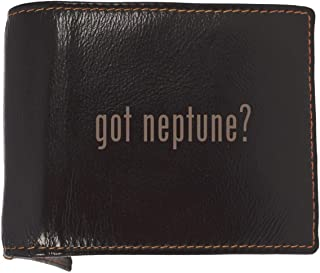 got neptune? - Soft Cowhide Genuine Engraved Bifold Leather Wallet