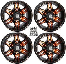 STI HD7 ATV Wheels/Rims Orange/Black 14