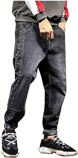 FRAUIT Pantaloni Uomo Taglie Forti Jeans Plus Size Oversize Pantaloni Ragazzo Elegante Denim Uomini Pantalone Larghi di Hi...