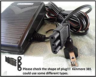 Complete Foot Pedal + Cord #033770217 For SOME Kenmore 385 Series, Singer from Sears LISTED BELOW