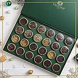 VAHDAM, Calendario dell'Avvento del tè 2021 | 24 tè sfusi assortiti di alta qualità in confezione regalo - 200 g | Ingredienti naturali al 100% | Idee regalo per le donne | Regalo originale