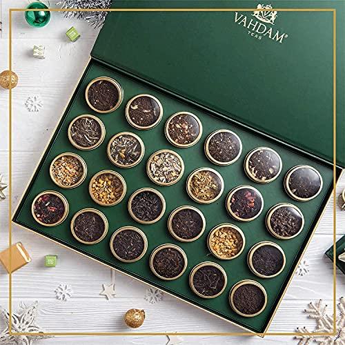 VAHDAM, Calendario dell'Avvento del tè 2021 | 24 tè sfusi assortiti di alta qualità in confezione regalo - 200 g |...