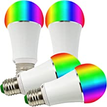 GreenDot Smart WiFi Multi-Colored Adjustable Dimmable LED Light Bulb - Compatible with Alexa & Google Assistant, No Hub Required, 7W (50W Equivalent), E26 (4Pack)