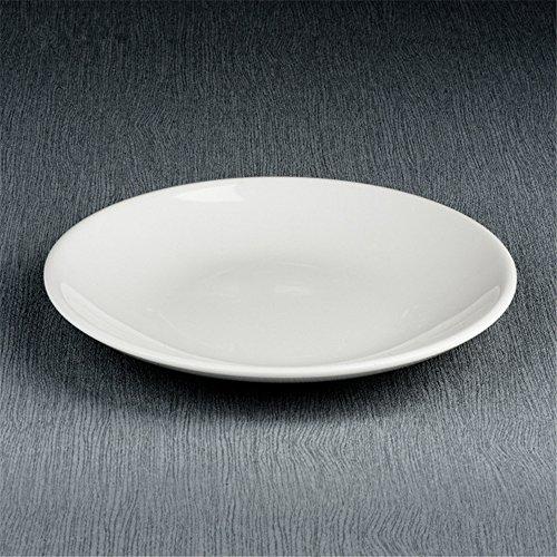 CHENXXOO Plastik Runde Weiße Steak-Teller 4 Set Durchmesser 20 * 2,5cm