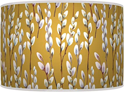 For Table lamp ARK HOUSE 30cm WILLOW MUSTARD YELLOW HANDMADE LAMPSHADE GICLEE PRINTED FABRIC PENDANT CEILING LIGHT SHADE 776