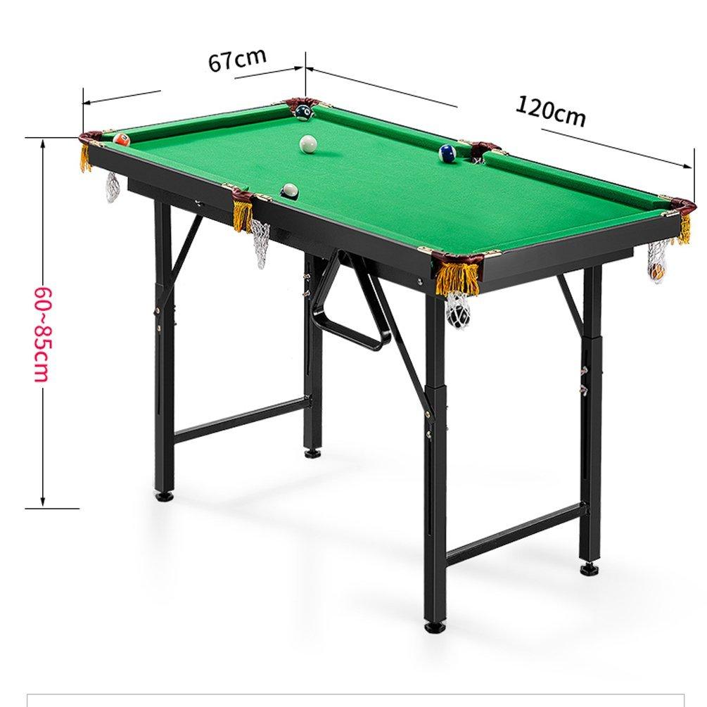 Plegable – billar 120 cm x 67 cm x (60 – 85) cm Mesa de billar mesa de billar snooker mesa parte el mini de billiard Compone el billiard cue, el billiard