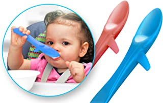 ChooMee Cuchara peque/ña de silicona para alimentar al beb/é 2 piezas P/úrpura