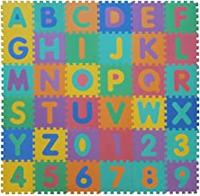 VeloVendo® Alfombra Puzzle Infantiles con Certificado CE & TÜV | Suelo de Espuma EVA | Tapete de Juego | Alfombra Suave para Bebé | Manta Juegos (Letras + Números)