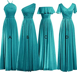 Bridesmaid Dresses Aline Prom Dress Long Evening Gowns Formal Party Pleated