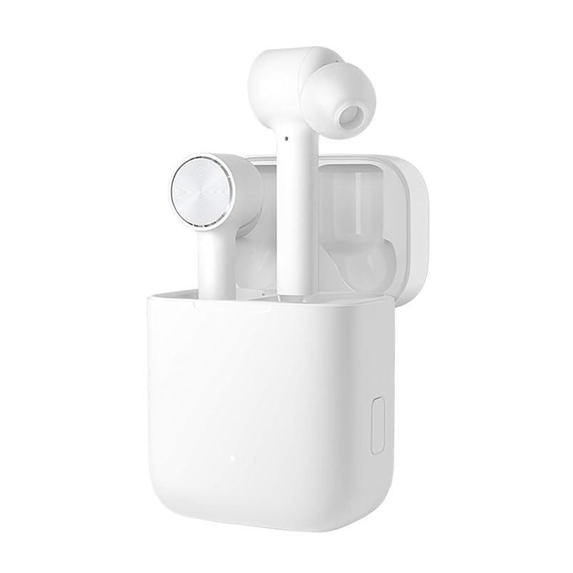 悲鳴推進力再現する「2019年モデル」Xiaomi 完全ワイヤレスイヤホン Air カナル型 左右分離式 片耳&両耳対応 AACコーデック対応 TWS(Ture Wireless Stereo) マイク内蔵 ハンズフリー通話 ANC アクティブノイズリダクション IPX4防水仕様【iPhone&Android対応】(ホワイト)