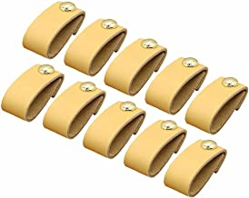 10 stks Keuken Handvat Knop Lade Knoppen Hardware Trekken, Handgemaakte Lederen Handvat Minimalistische Deur Kast Keuken M...