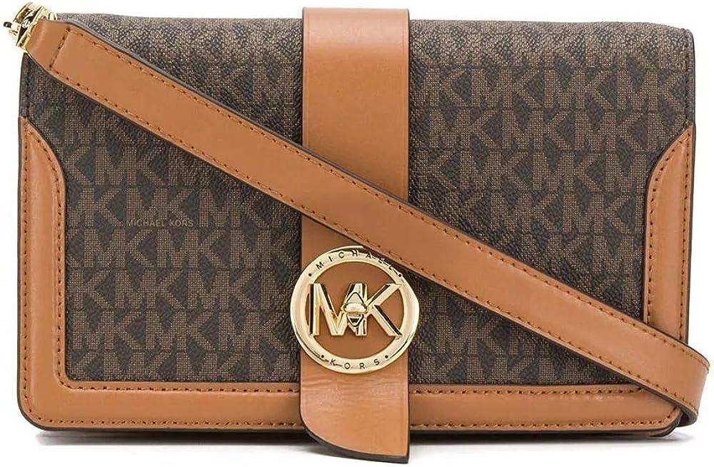 Michael kors luxury fashion ,borsa a spalla per donna,in tela rivestita,dettagli in vera pelle al 100% 32S0G00C8B-252