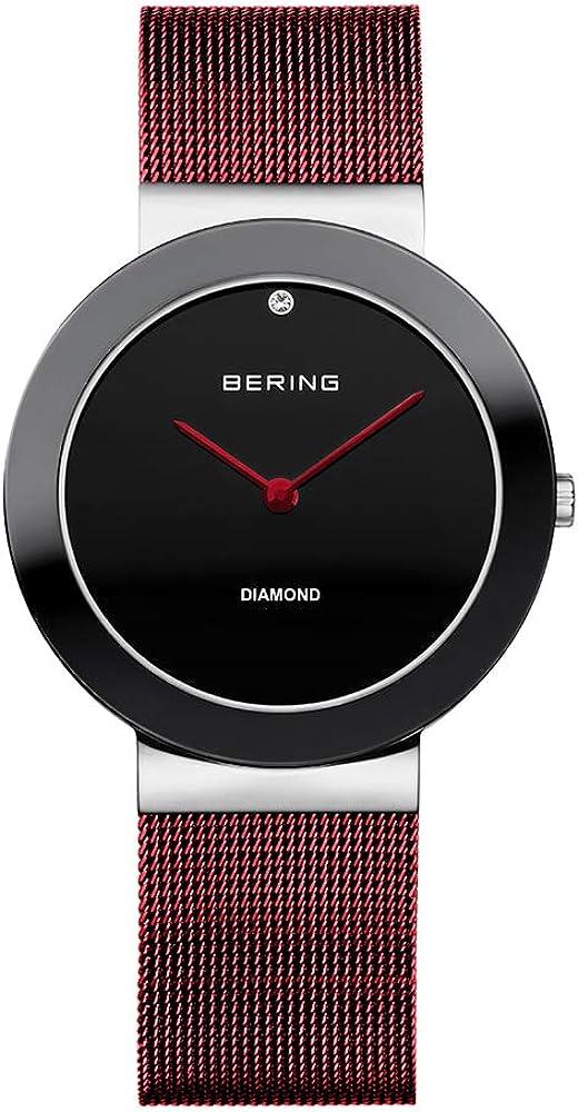 BERING Reloj Analógico Charity Collection para Mujer de Cuarzo con Correa en Acero Inoxidable y Cristal de Zafiro 11435-Charity