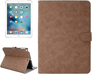 LFPING New for iPad 9.7 inch 2017 / iPad Air/iPad Air 2 Universal Retro Velvet Senior PU + Plastic Bottom Case Horizontal Flip Leather Case with Holder & Card Slots & Sleep/Wake-up Function