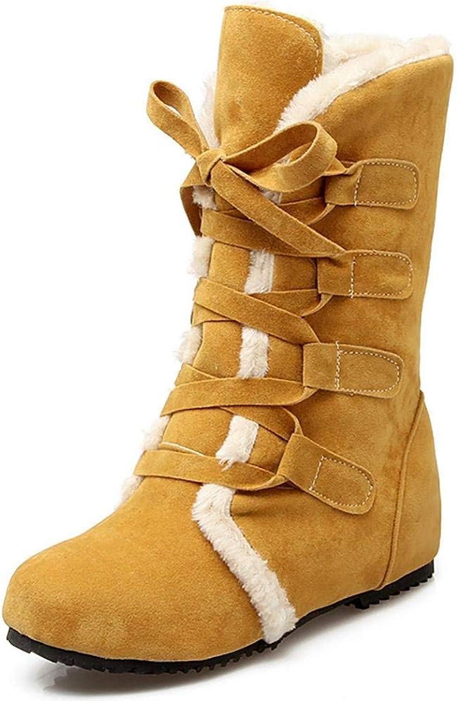 HhGold Winter Damen Round-Toe Schnürsenkel Highlanders-Tall Quilt Snow Stiefel Stiefel Stiefel (Farbe   Braun, Größe   34)  cfa068