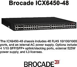 BROCADE ICX6450-48 / Brocade ICX 6450-48 - Switch - L3 - managed - 48 x 10/100/1000 + 2 x 10 Gigabit Ethernet / 1 Gigabi