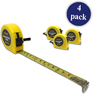 Tape Measure | 16ft or 5m | For Measuring, Construction (Pack of 4)