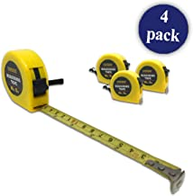 Tape Measure   16ft or 5m   For Measuring, Construction (Pack of 4)