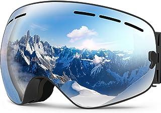 afe0b40126 Zionor X Ski Snowboard Snow Goggles OTG Design for Men Women with Spherical  Detachable Lens UV