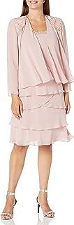 اس.ال فستان نسائي مزين بجاكيت من متجر Fashions (صغير ومنتظم)