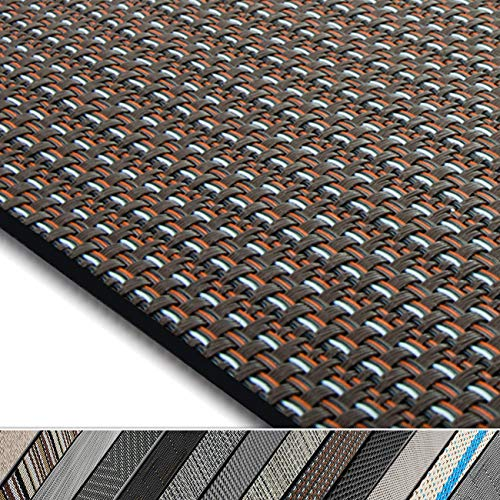 casa pura Design Bodenschutzmatte Modena in 6 Größen   dekorative Unterlegmatte für Bürostühle oder Sportgeräte (120 x 90 cm)