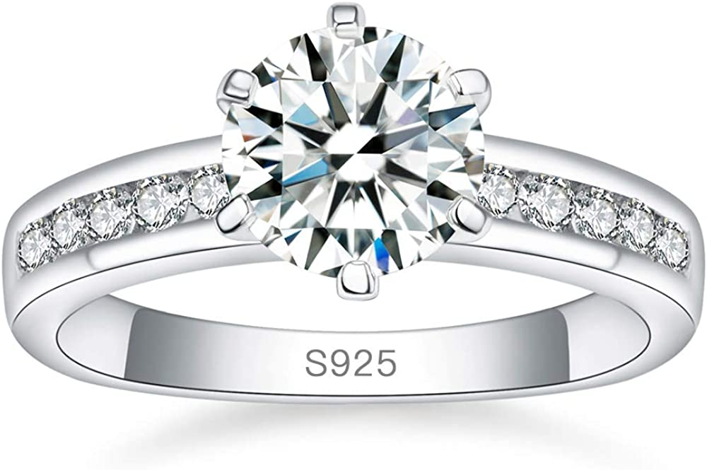 AVECON Classic 2.5 Carat 5A Sales results No. 1 Cubic Solitaire Round Zirconia Cut Deluxe 9
