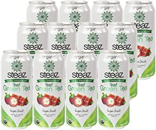 Steaz, Tea Green Superfruit Organic, 16 Fl Oz, 12 Pack