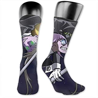Unisex Novelty Socks Mid-Calf Crew Socks Comfortable Warm High Ankle Compression Socks For Home Work Athletic Outdoor Activities - Soul Eater Maka Vs Crona