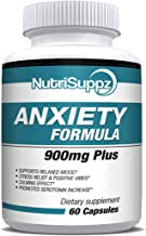 Anti Anxiety Supplement 900mg With Gaba, L-Theanine, 5-HTP, Ashwagandha, Magnesium Oxide, St. John's Wort, Chamomile - Positive Mood, Relaxed Mind, Promote Higher Serotonin, Live In Peace