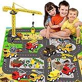 RuiDaXiang Engineering Baufahrzeug Spielzeug-Spielzeugautos Sets, mit Stadt Game Pad, Lastwagen...