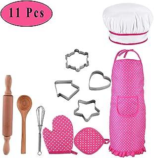 Ritte 11 Piezas/Set Conjunto de Chef para Niños, Juego para