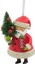 Hallmark VIDA Christmas Ornament Santa with Tree, Spanish Language Ho Ho Ho Jo Jo Jo