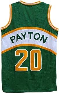 Haeyev Men's Payton Retro Jersey Athletics Gary Jersey Basketball #20 Jersey(S-XXL)
