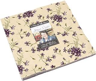 Sweet Violet Layer Cake, 42-10 inch Precut Fabric Quilt Squares by Jan Patek