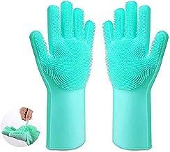 Anjing Magic siliconen handschoenen borstel afwashandschoenen siliconen spons borstel keuken herbruikbare schoonmaakhandsc...