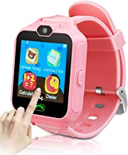 YIHOO Kids Smart Phone Watch for Girls Boys Children 2 Way Call 1.4'' HD Touch Screen Camera Game Digital Gizmo Learning Cellphone Wrist Watch for Birthday Holiday Cool Toys Smartwatches Gifts (Pink)