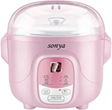 Bonus Pack Sonya Ceramic Pot Smart Electric Slow Stew Pot SY-DGD8P (Pink)
