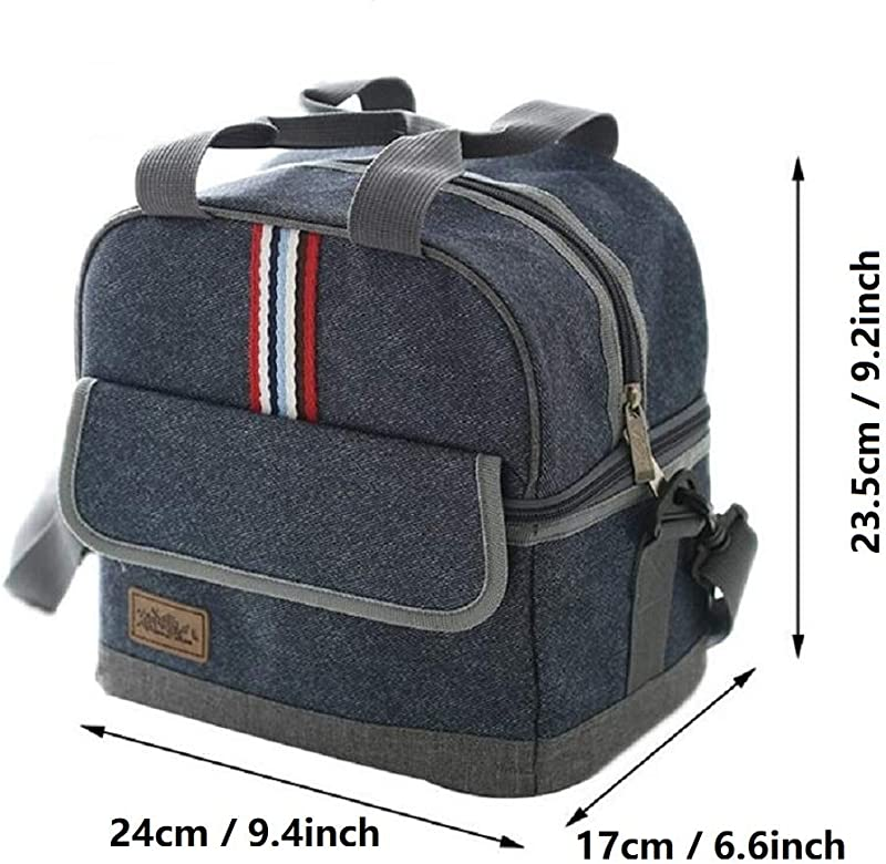 Oxford Thermal Lunch Bag Insulated Cooler Storage Women Kids Food Bento Bag Portable Leisure Accessories Supply Product Cases L
