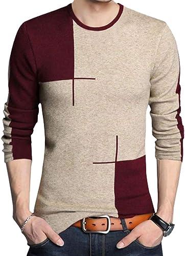 Regular Fit Men S Color Blocked Designer Western T Shirt EBT91