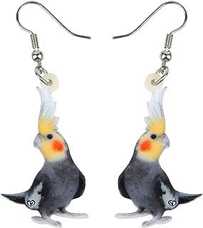 NEWEI Acrylic Novelty Parrot Bird Earrings Dangle Drop For Women Girl Ladies Fashion Animal Jewelry Gifts Charm