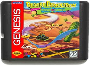 The Crowd Tradensen Desert Demolition Starring Road Runner and Wile E.Coyote 16 Bits MD Carte de Jeu pour Sega Mega Drive ...
