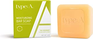 Type:A Bar Soap - Probiotic Infused, Enriched with Nourishing Kukui Nut Oil and Rosehip Oil to Moisturize and Soothe Skin ...