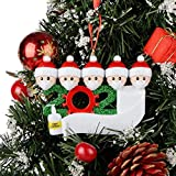 TUTUO 2020 Personalized Christmas Ornaments Kit with Toilet Paper, DIY Christmas Decorating Kit Creative Gift for Family Christmas Tree Hanging Party Decorations(5 People)