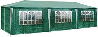 TecTake 800085 Pavillon Partyzelt Gartenzelt Eventpavillon 3x9m 9x3m + 8 Seitenteile - Diverse Farben - (Grün | Nr. 401292)